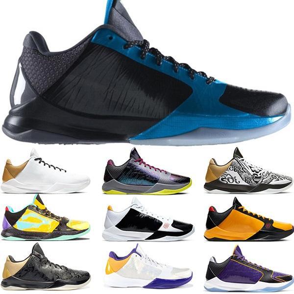 zapatillas de baloncesto 5 5s Proto Etapa grande Triple noche oscura Negro alternativo Bruce Lee Chao LA Mens entrenadores deportivos zapatillas de deporte de los corredores