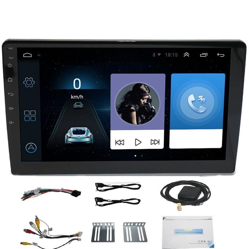 10.1 inç android 8.1 dört çekirdekli 2 din araba basın stereo radyo gps wifi mp5 oynatıcı bize