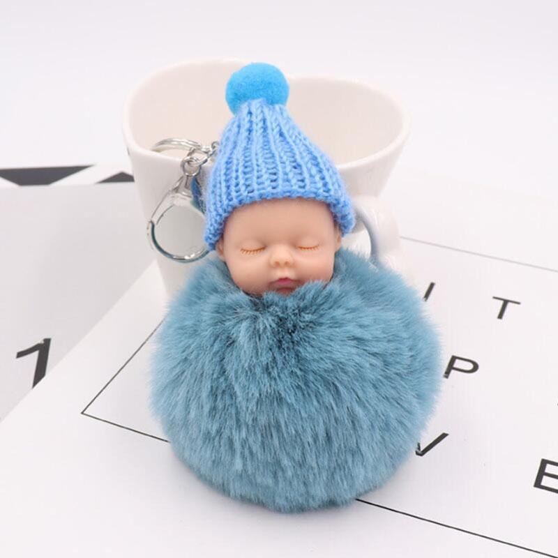 15pcs/Lot Boutique Cute Sleeping Doll Key Chain Lady Plush Bag Car Accessories Gift Wedding Souvenir Giveaways for Guests Charm Keychain