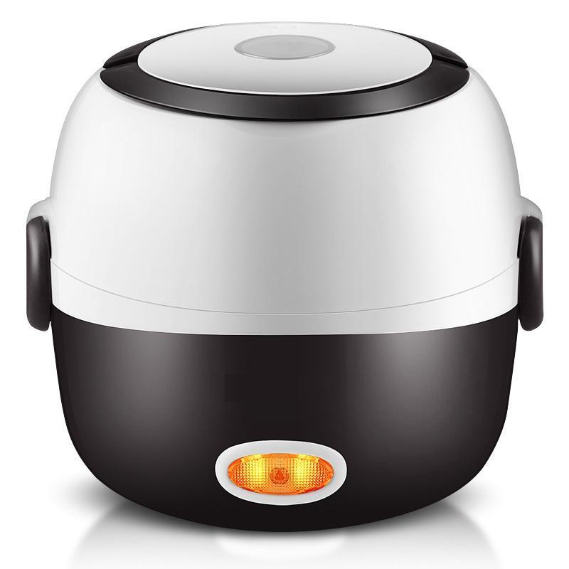 Rice Cooker termica Riscaldamento Elettrico Lunch Box 2 strati portatile Food Vapore di cottura Contenitore Pasto Lunchbox Warmer