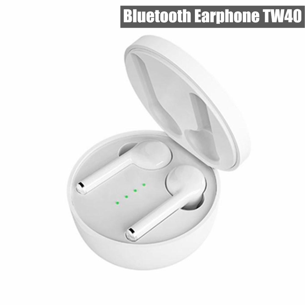 New TW40 Touch Control Wireless Bluetooth earphone Wireless Sport Stereo Headset Earbuds V5.0 With Microphone Charging Box For mobile phones