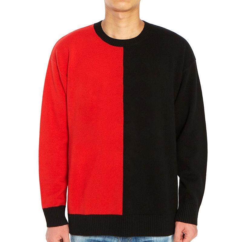 Новый зимний свитер мужчин свитер пальто Mens вскользь шею длинным рукавом свитера мужские высокого качества Толстовка Черный Размер M-2XL