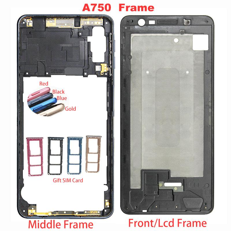 10pcs/lot For Samsung Galaxy A7 2018 SM-A750F A750F A750 Front Housing LCD Frame Middle Frame Back Plate Housing Back Cover