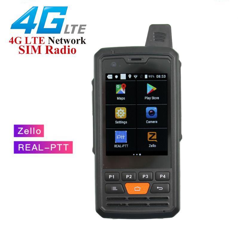 워시 토키 Anysecu 4G 네트워크 라디오 P3 F50 Android 6.0.0 잠금 해제 POC LTE / WCDMA / GSM Real-Pzello