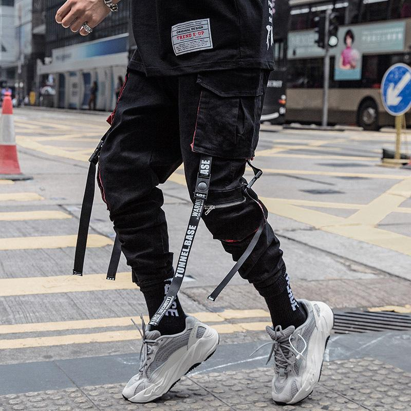 Pantaloni 202o uomini di estate modo di tessitura Hip Hop Mens stile dell'America e dell'Europa Cargo uomini pantaloni casual pantaloni Multi-pocket Taglia M-4XL
