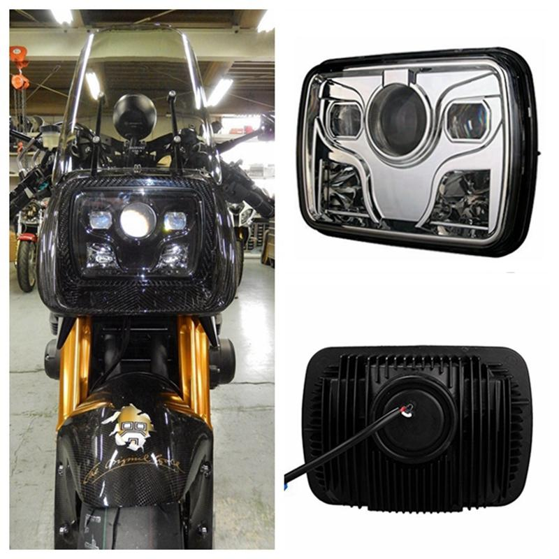 """1pcs 5""""x7"""" Square LED Headlights Projector with High/Low Beam DRL Driving Lamp For Truck Offroad Car Motorcycle"""