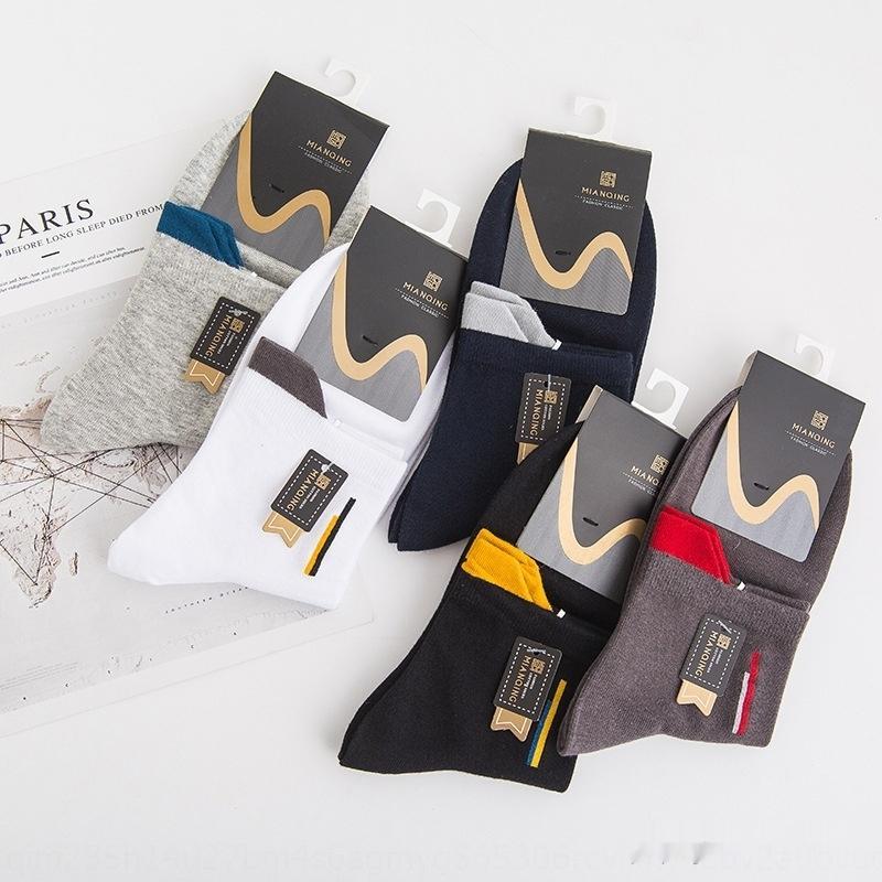 erkekler orta buzağı sonbahar ve kış ter emici nefes topuk kaldırma renk erkek çorapları spor gündelik pamuk pamuk çorap stockingsS