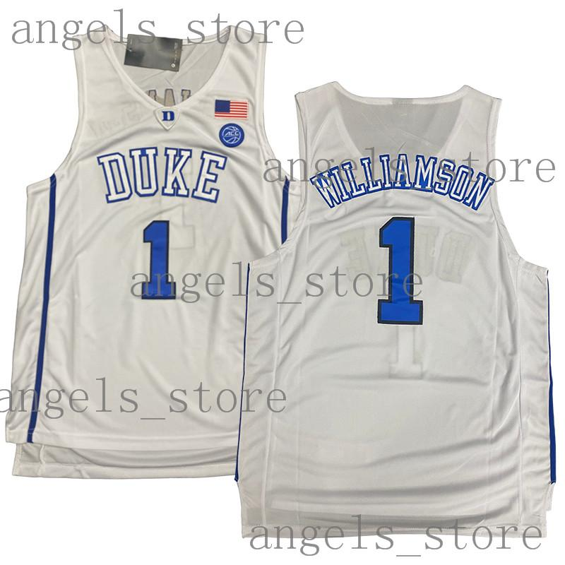 Zion 1 Duke Williamson Basketball Blue Devil Jersey Len Bias 34 Kyrie NCAA 11 Irving Stephen Curry 30 Dwyane Wade 3 LeBron James 23 College