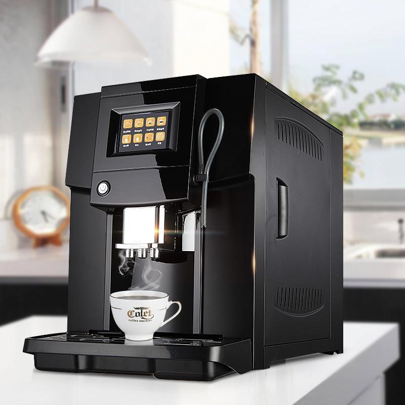 Touch Commerical Vollautomatische Kaffeemaschine LCD-Espressomaschine Kaffeemühle 19 bar Milchaufschäumer 220v 1250w