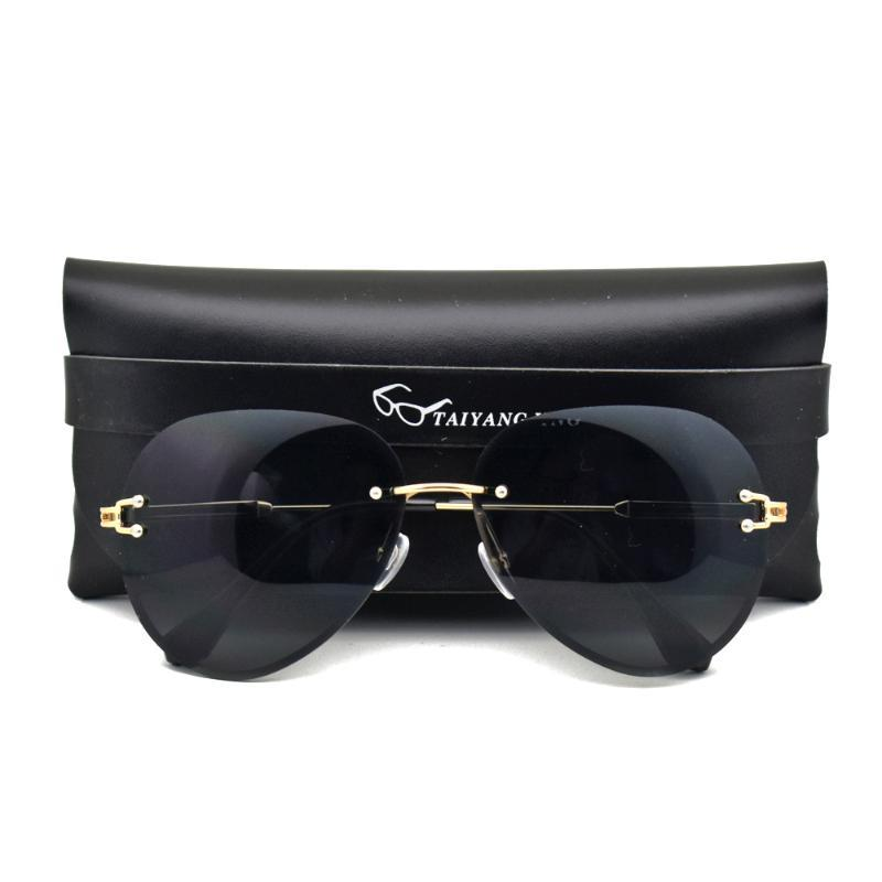 CASE Randless Pilot Designer Sonnenbrille Gradient Sonnenschatten Damen Gläser Frauen Mode mit Sonnenbrille GTNVs