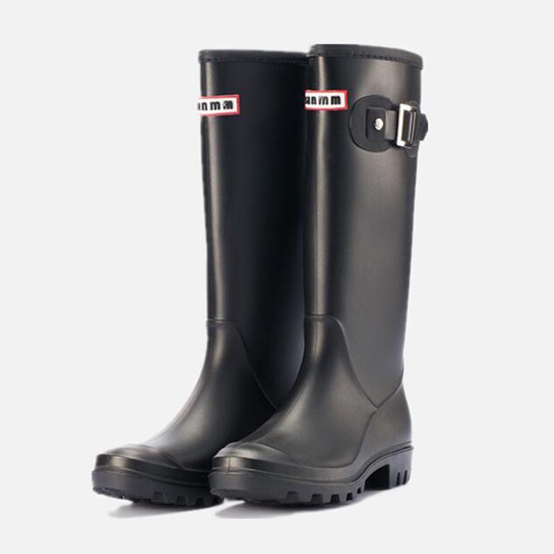 Frauen Oberschenkel hoch für Frauen Gummi wasserdichte Gummistiefel Damen regen Stiefel Botas mujer invierno 2019 sy411 T200909