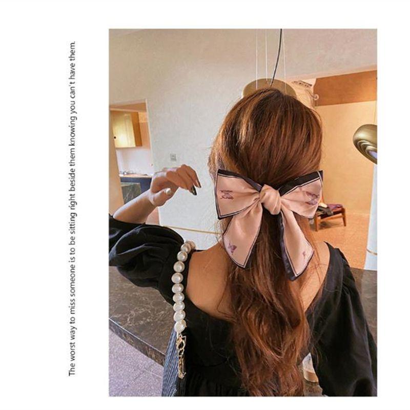 Cabello Pernos de la mariposa dulce y gran arco horquilla accesorios lindos del pelo estilo coreano impresión de la tela temperamento