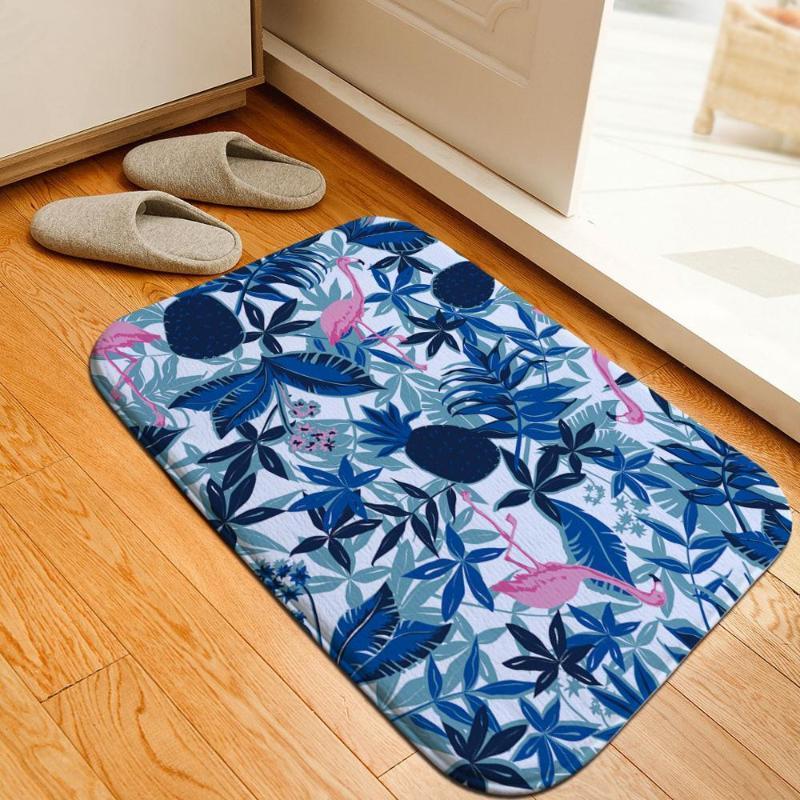 Nordic Bunte Flamingo Badezimmer Mat Bettvorleger Super Soft Kristall Fleece Anti Slip Absorbent Küche Teppich Balkon Fußmatte