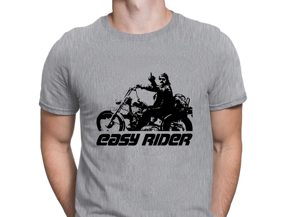 Finger T shirt Easy Rider di Dennis Hopper Media Alta qualità impressionante di stile Estate Uomo-maglietta di Hip Hop Euro taglia unica