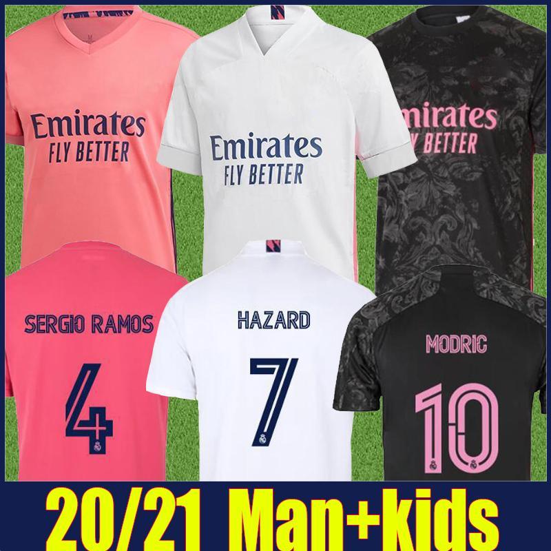 2020 레알 마드리드 축구 유니폼 (34) CAMPEONES 아이는 위험 모드리치의 축구 유니폼 비니 JR JOVIC KROOS 벤제마 Camiseta 드 레알 마드리드 KIT