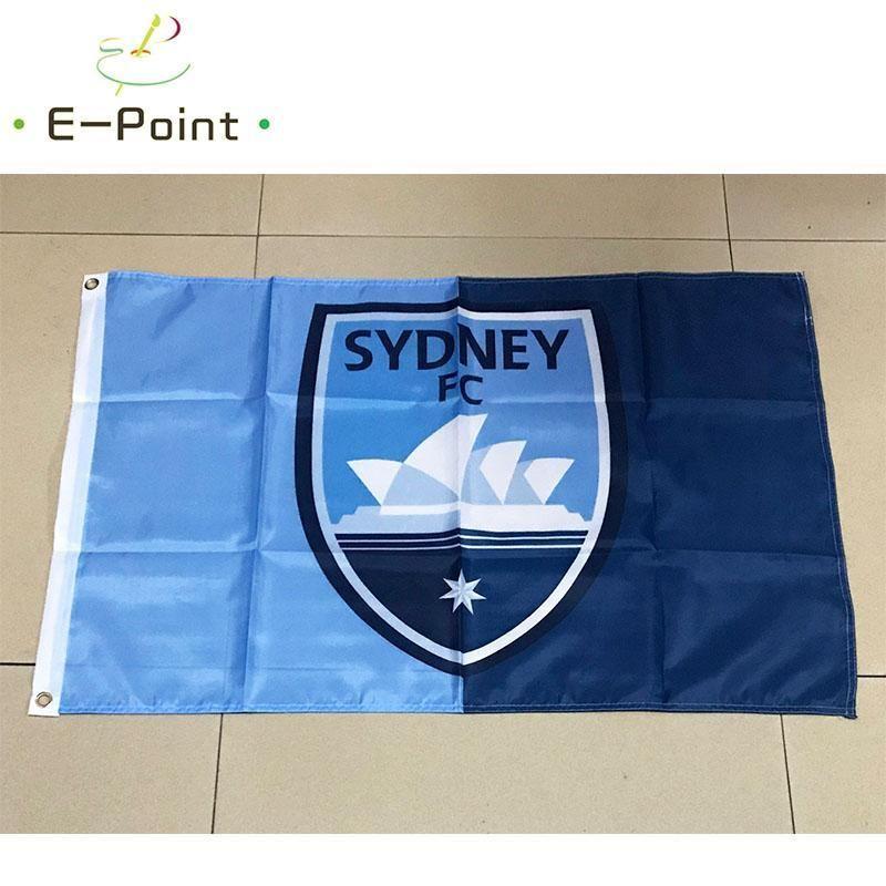 Australia Sydney Decoración Jardín Bandera Fc * 3 pies 5 pies de la bandera del vuelo Inicio (150cm * 90cm) trustbde Bandera A-liga SdyLy