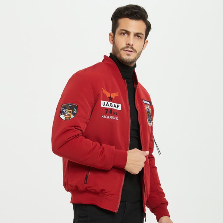 Patchwork Coats Mens Casual Quente Grosso Manga comprida solta Jacket Mens Inverno Designer Casacos Moda Bordados