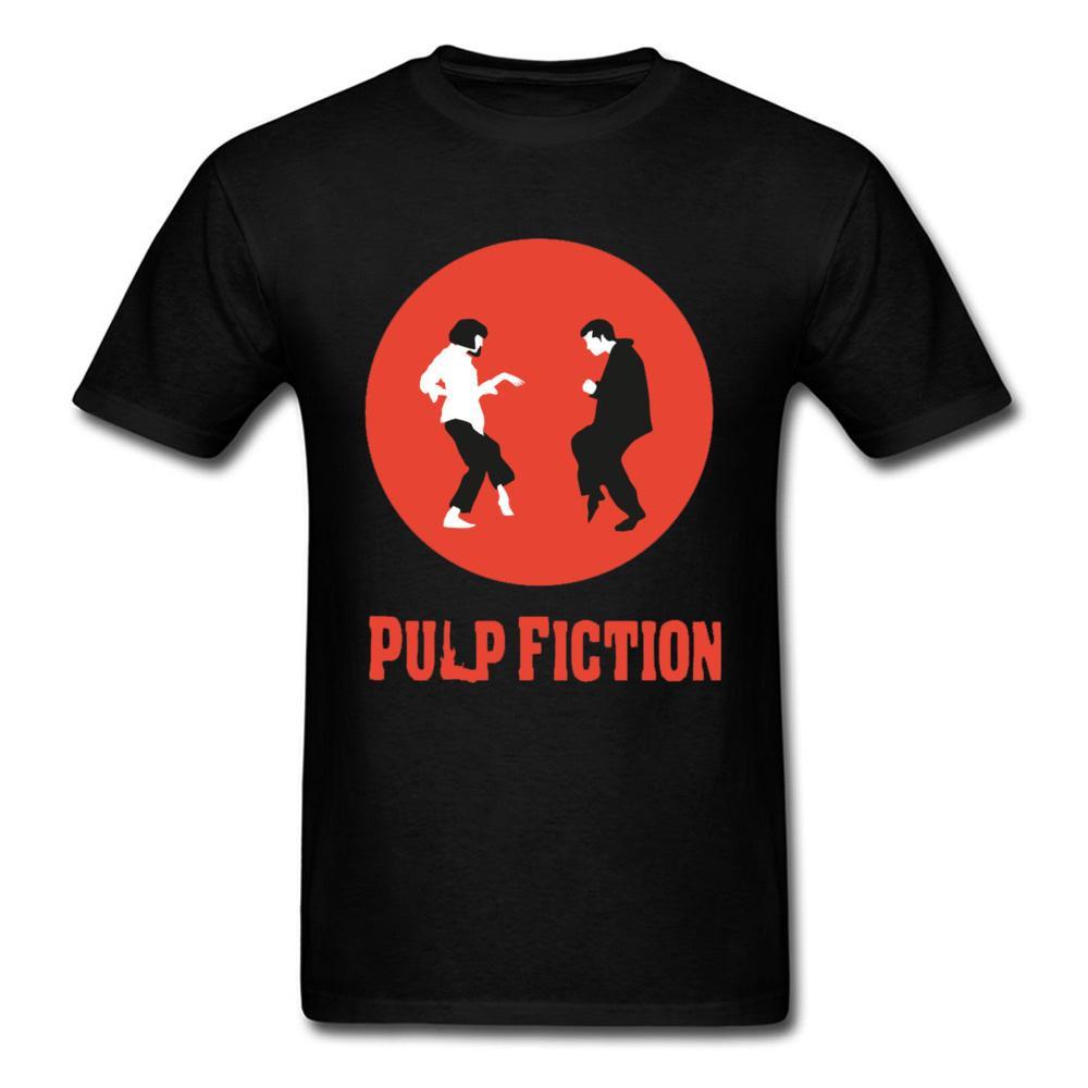 Pulp Fiction Tshirt Uomini danza Tshirt Vincent Vega Wallace maglietta Partner Coppia divertente supera i T personalizzato società Camiseta