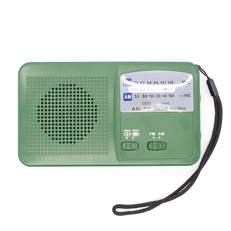 Emergency Radio AM FM Radio Solar Hand-Crank with Bright LED Light and Built-in Battery for Smart Phone Charger