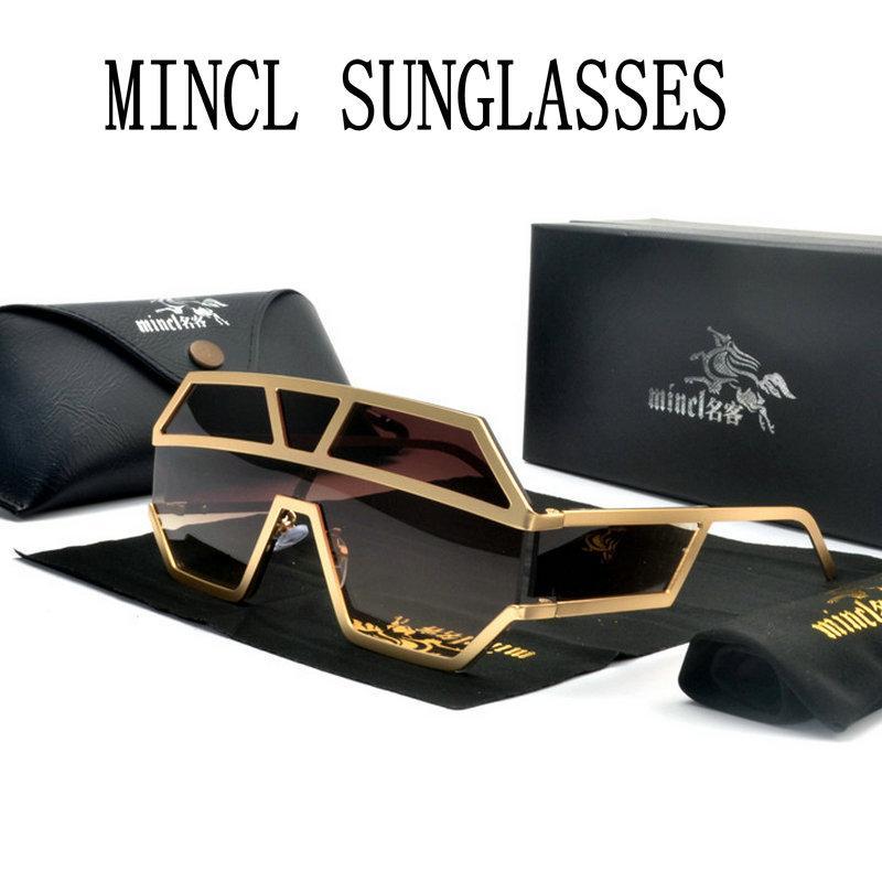UV400 Renk kadın Büyük Tasarımcı Kadın Gözlük Güneş Güneş Gözlüğü Şeffaf Gözlük Çerçeve FML Boy Gözlük Yeni Siyah ONIFG