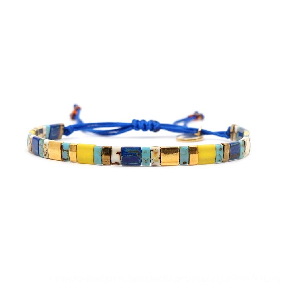 tjFsF ins plage bohème bijoux en perles accessoires Bracelet quelques Bracelet femme d'été ornements de perles PTIA ornements tissés à la main