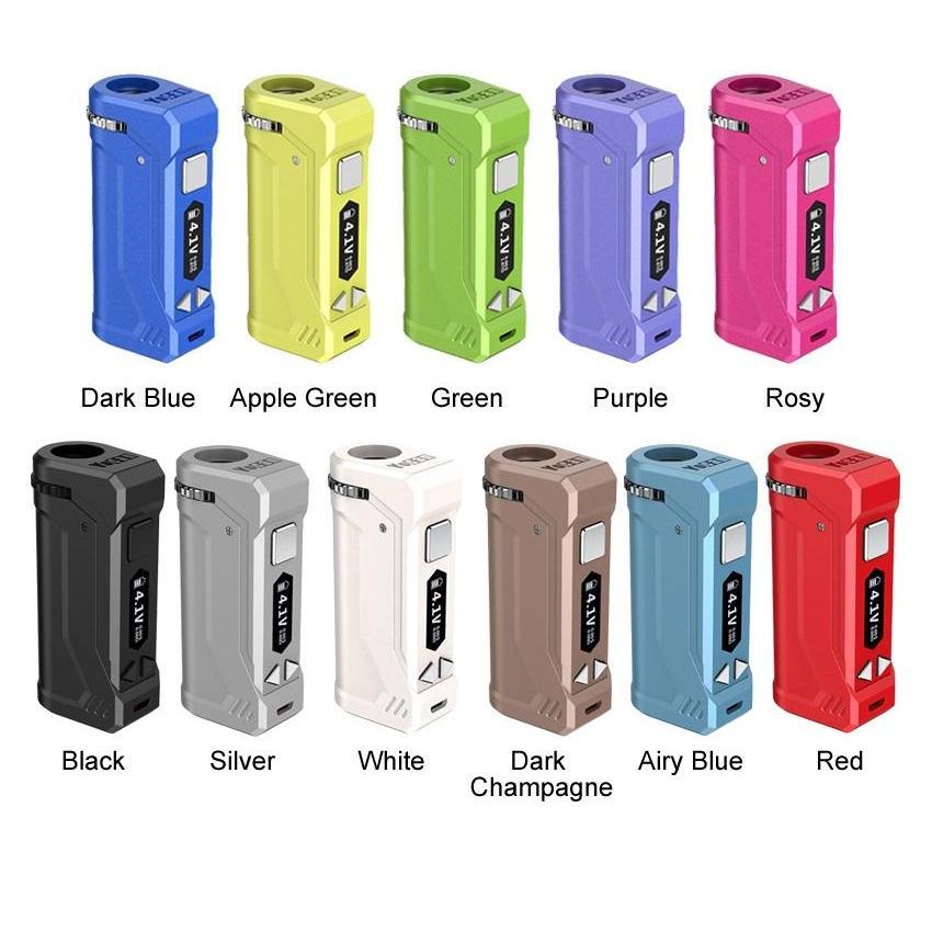 Autentica Yocan Uni Pro Box Mod batteria con display OLED 650mAh Preriscaldare VV Vape Box 100% originale