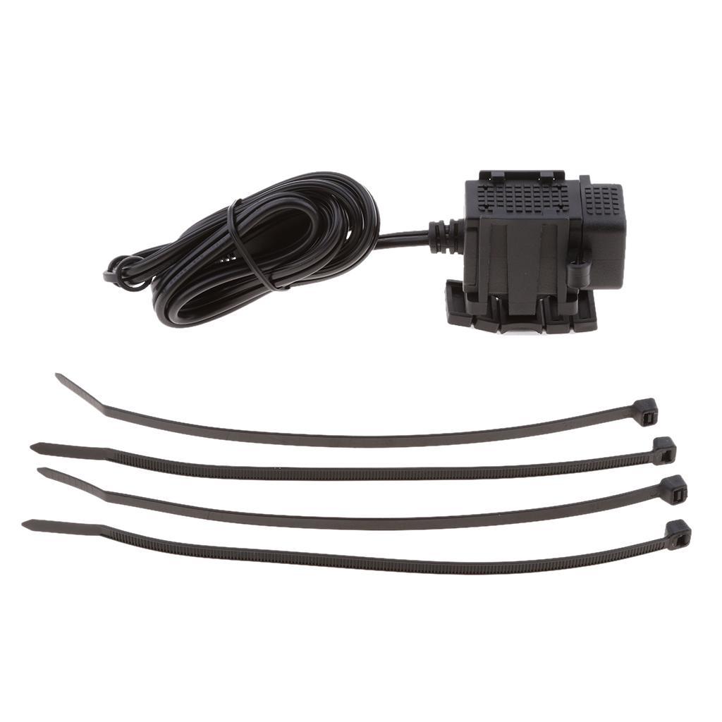 SAE al cargador rápido 3.1A puerto USB Cable Adaptador USB a prueba de agua para la motocicleta tableta del teléfono móvil GPS y Más