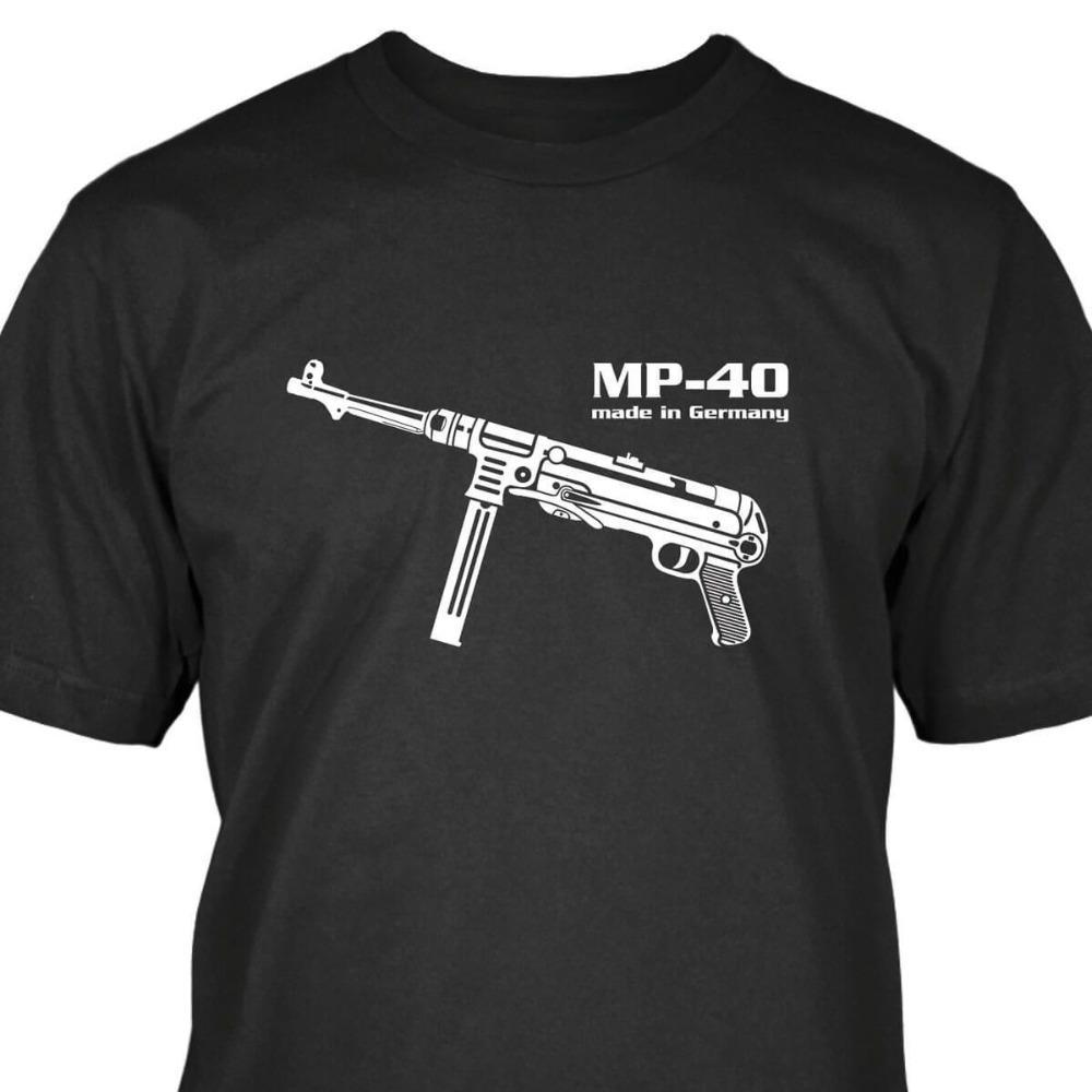 Hop T shirt manica corta MP40 MP40 Premium Black Landser Deutsches Reich Ruhm Ehre Ww2 Soldaten Uomini Estate casuale S-3XL Hip