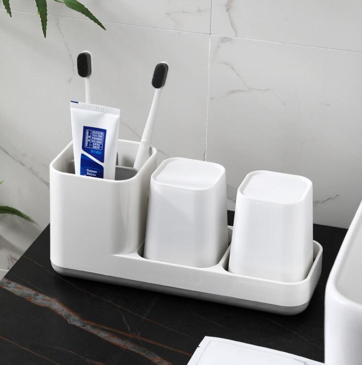 Creativo collutorio spazzolatura tazza semplice WC di casa lavaggio bagno tazza titolare paio spazzolino da denti set stoccaggio dentale