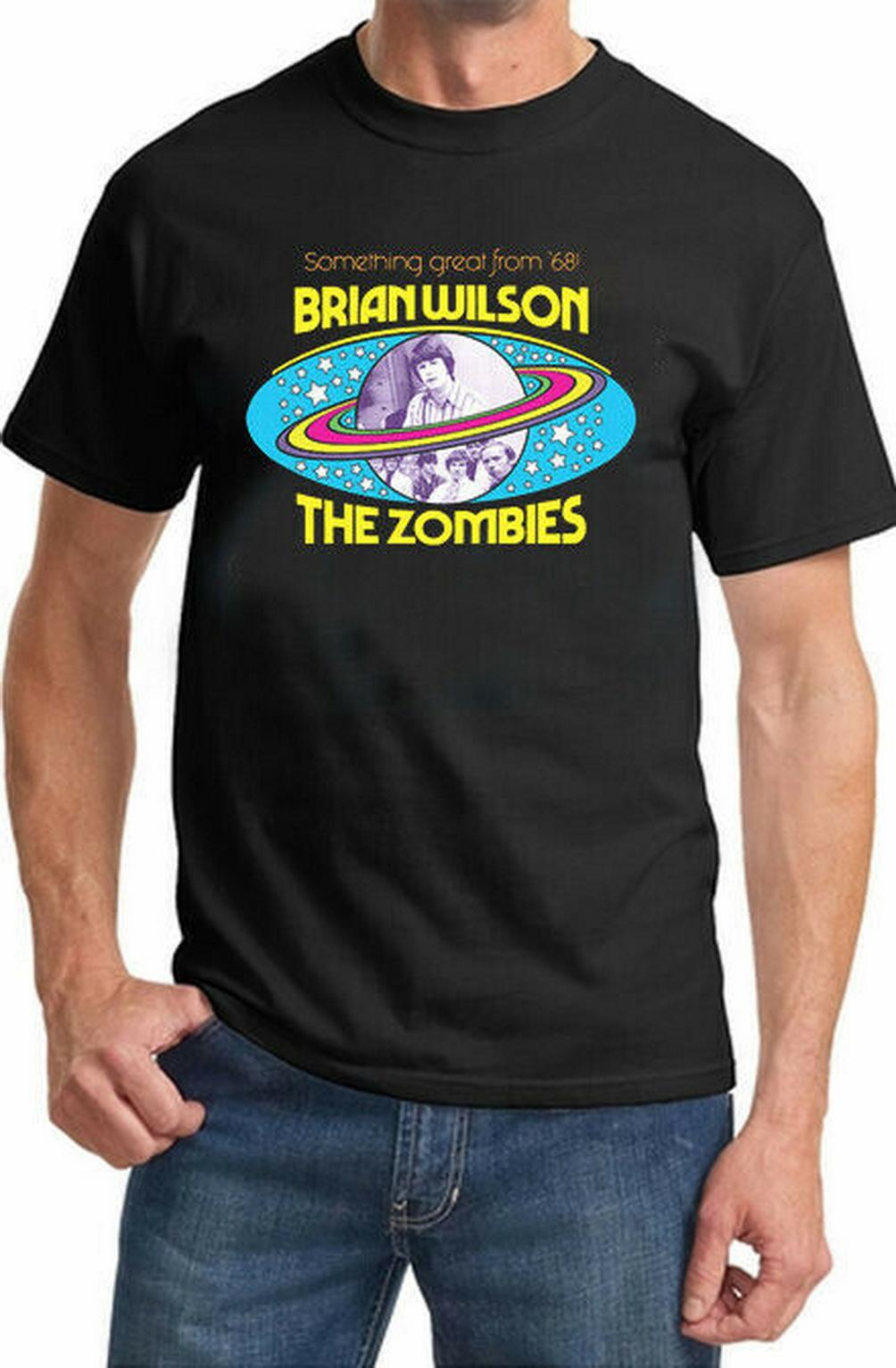 Yeni Popüler Brian2020Wilson zombiler '68 Unisex Tişört M L Xl 2XL 3XL Yeni Unisex komik Tee Shirt