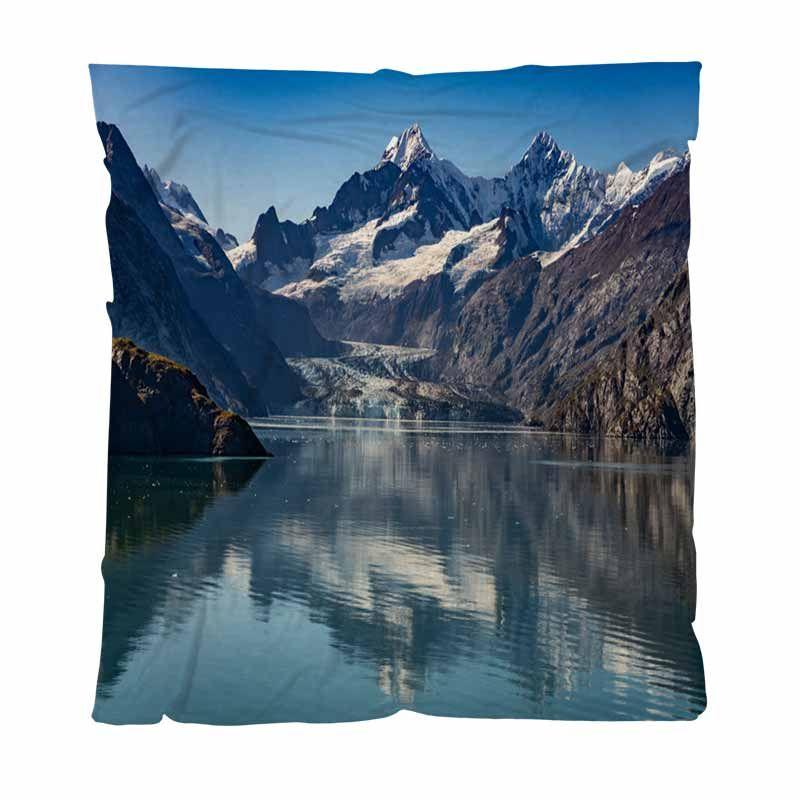 Luxe Super Soft Throw Blanket, Parc national de réserve de Glacier Bay en Alaska, Couverture souple et confortable multifonctions