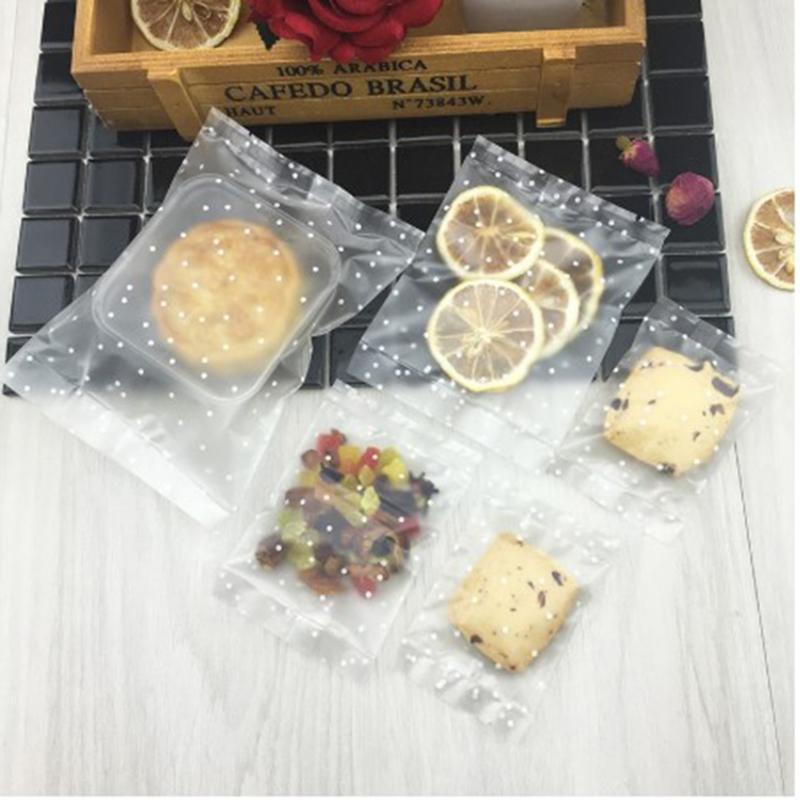 Puntini bianchi Trattare sacchetti di caramelle Cookie Borse smerigliato traslucido per pasticceria al cioccolato artigianale Crafts nozze favori Hog