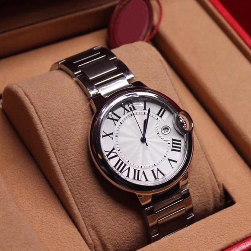 2019 새로운 패션 남성 시계 여성 시계 최고 품질 스테인레스 스틸 쿼츠 손목 시계 클래식 Reloj 상자 선물 Orologio 디 Lusso