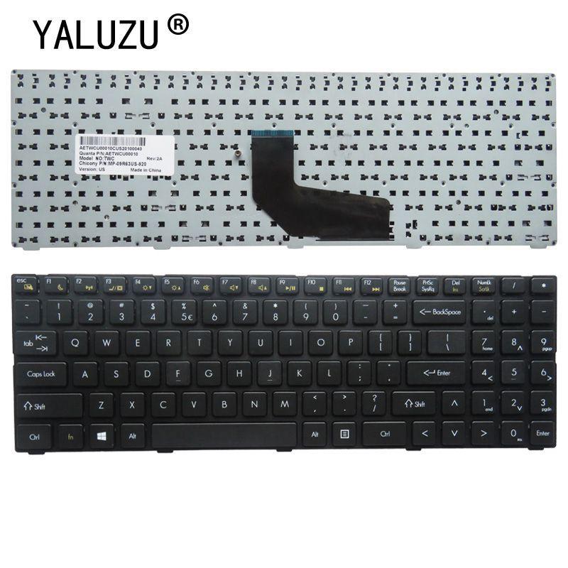 YALUZU NEU US Laptop-Tastatur für DNS TWC K580S D0 D1 D2 D3 K580N TWH K580C K620C AETWC700010 MP-09R63SU-920