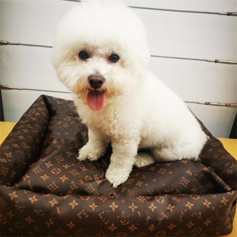 خريف شتاء ثخن الحيوانات الأليفة الكلاب خمر رسالة مطبوعة الحيوانات الأليفة منازل 3 ألوان جميل سحر بلدغ جلد سرير