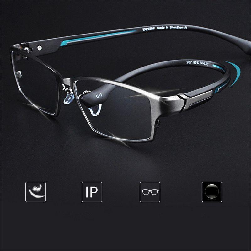 Optik için Cubojue Titanyum Gözlükler Çerçeveler Erkek Boy Gözlük Erkekler Tam çerçeve İş Marka Tasarımcı Ultra Hafif Gözlük