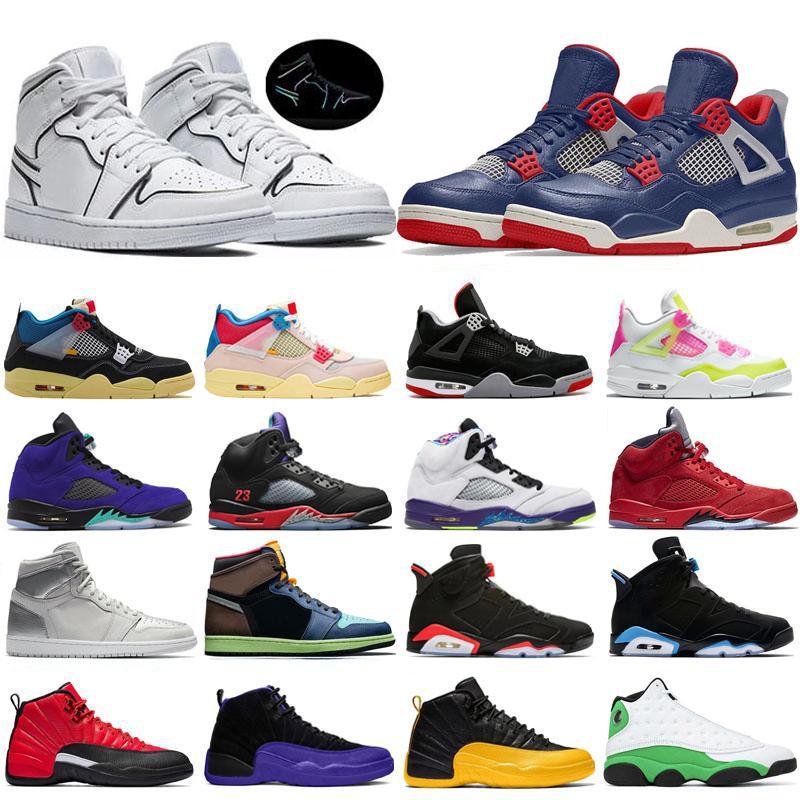 Jumpman 1s alta tênis de basquete Mens Trainers Jumpman aniversário 11s 25 12s 4s União Album 5S alternativos de uvas 13s Flint 10s Sports Sneakers