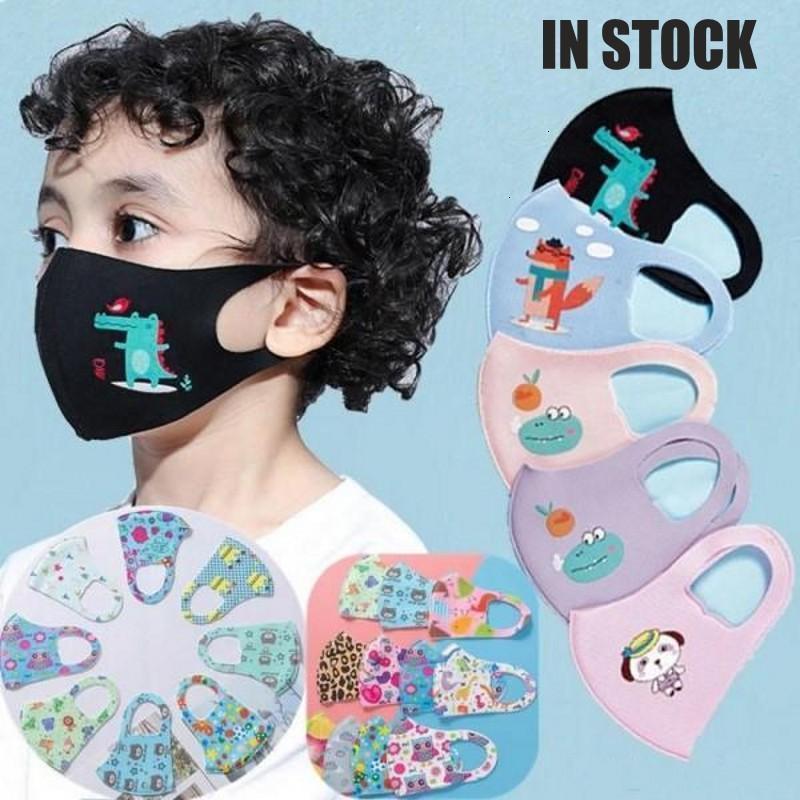 Рта детский нетканый красочный ткань лицо солнцем анти мультфильм мультфильм маска для пыли выхлопные дети 9046 100шт хлопок DHL маски доставки Cisnj