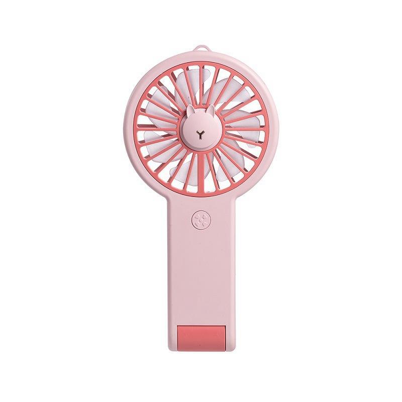 Мини-вентилятор перезаряжаемые USB Вентилятор охлаждения Портативный с 7 Цвет света розовый