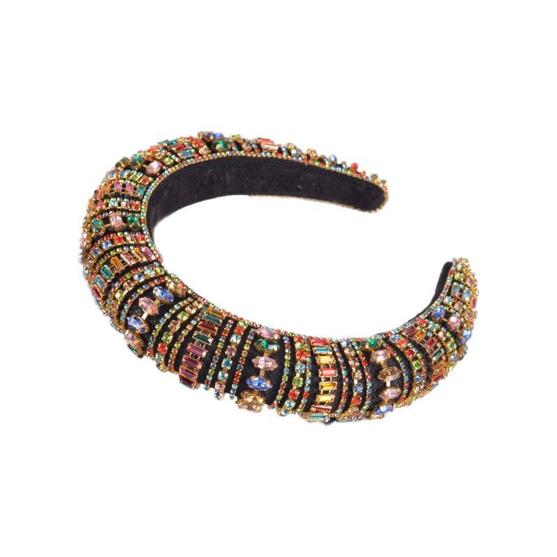 Moda Colorido senhoras Rhinestone Headband Acessórios de cabelo lindo Headband Fix Cabelo nupcial Acessórios de Moda Banda