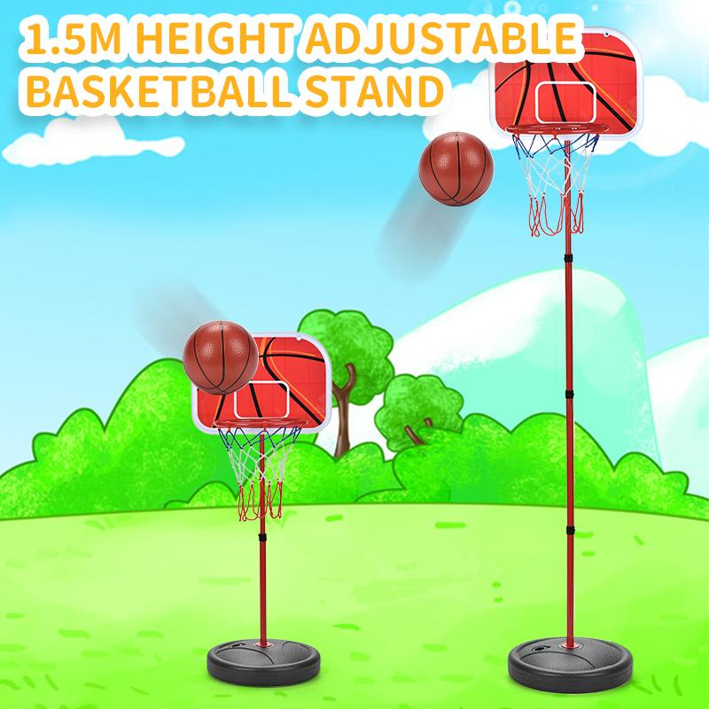 Регулируемая Баскетбол Стенд Basket Sports Activity Игра Mini Крытый Младенческие мальчики баскетбол Игра Set Yard игрушки