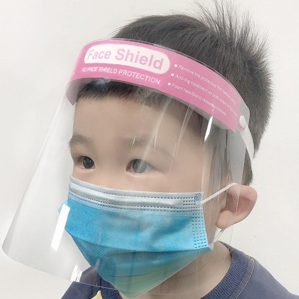 Chiaro Moda Shield maschera protettiva per i bambini Anti-fog Full Face Visor trasparente Protezione Splashing Child Safety Hh9-3201 3ogi #
