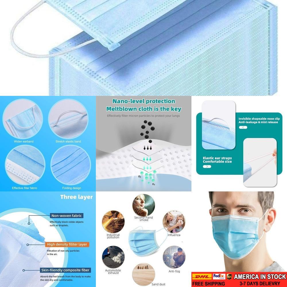 300pcs Wegwerf mit Elastic Earloop Level Dental s für Personal Health Protection Blau SHK