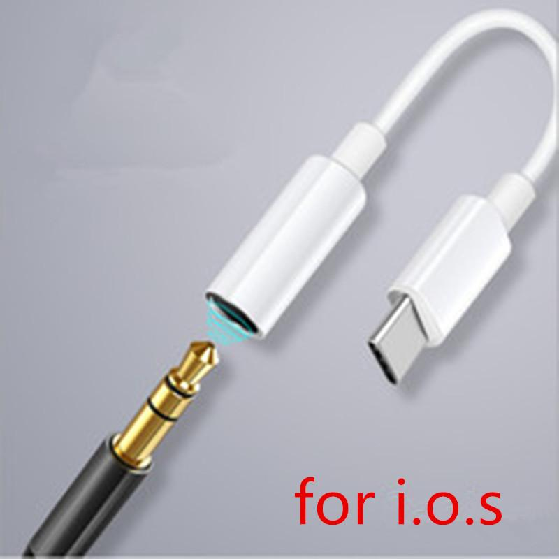 Auricular Auricular Jack Adapter Converter Cable Lighting to 3.5mm Pop-Up Audio AUX Conector Adapter para iOS 12 13 Cord para 78 Plus