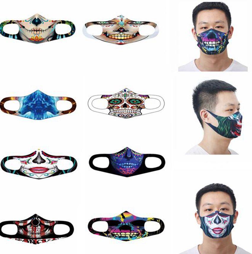 Классического Косплей 3D Printed Face Mask Ice шелк хлопок 3D спорт Велоспорт маски моющегося рот Маска анти смог Хэллоуин маска GGA3736