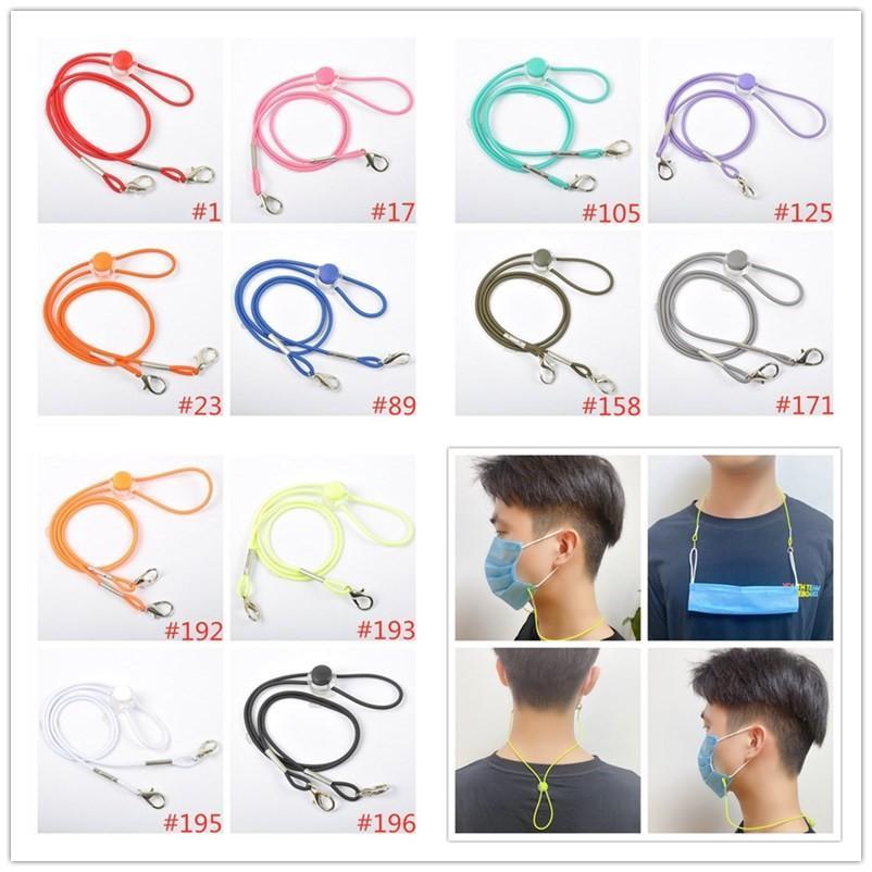 12 цветов Anti-Loss Mask Rope Extension многоразового маска Holder Glassses Маска Lanyard Hang On шея Строка Маска Rope DHC2056