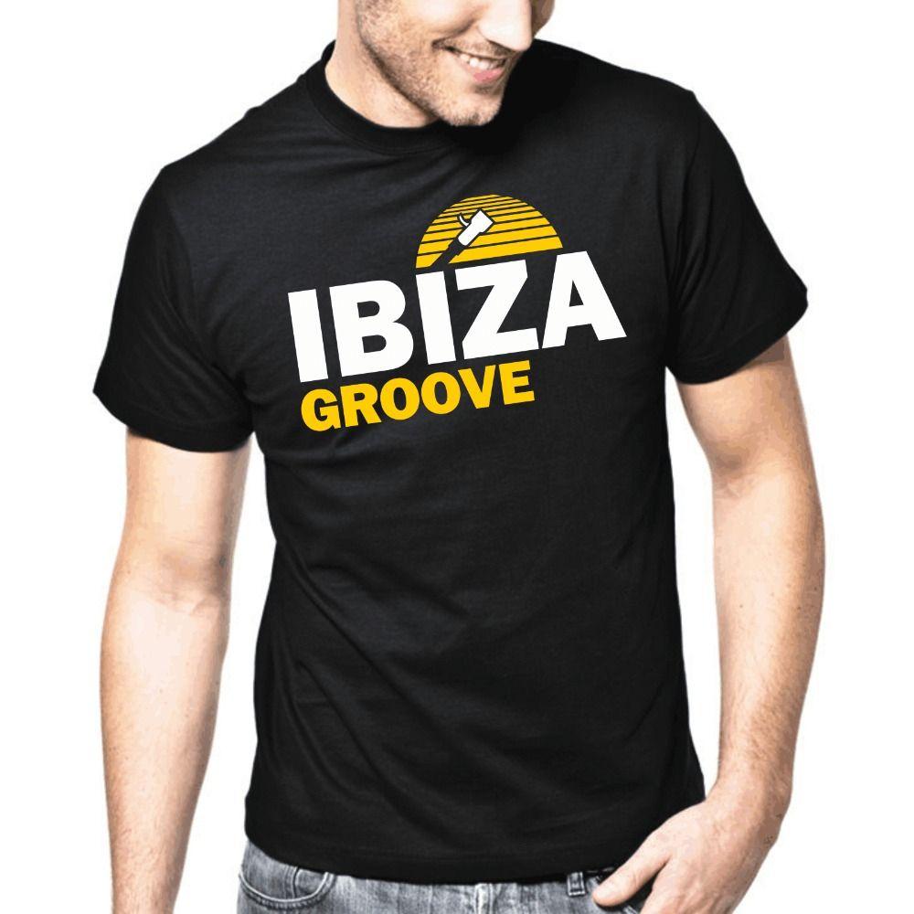 2019 camisetas de los hombres masculino camiseta de los hombres del estilo del verano de Ibiza Groove Music Ropa de la marca T-tapas de la camisa de la manga corta