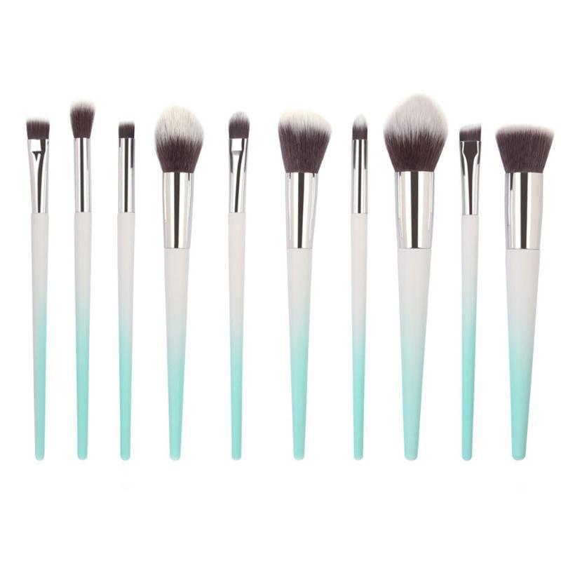 10Pcs Makeup Brushes Set Powder Foundation Eyebrow Eye Shadow Lip Concealer Fan Cosmetics Brush Kit Make Up Tool