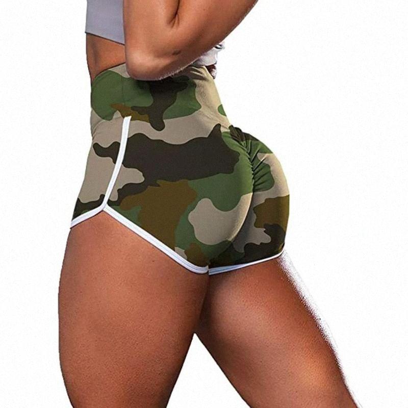 Las nuevas mujeres del entrenamiento Pantalones cortos Scrunch botín de gimnasio de yoga pantalones de cintura Deportes polainas deporte femme leginsy damskie sportowe 2020 J6pj #