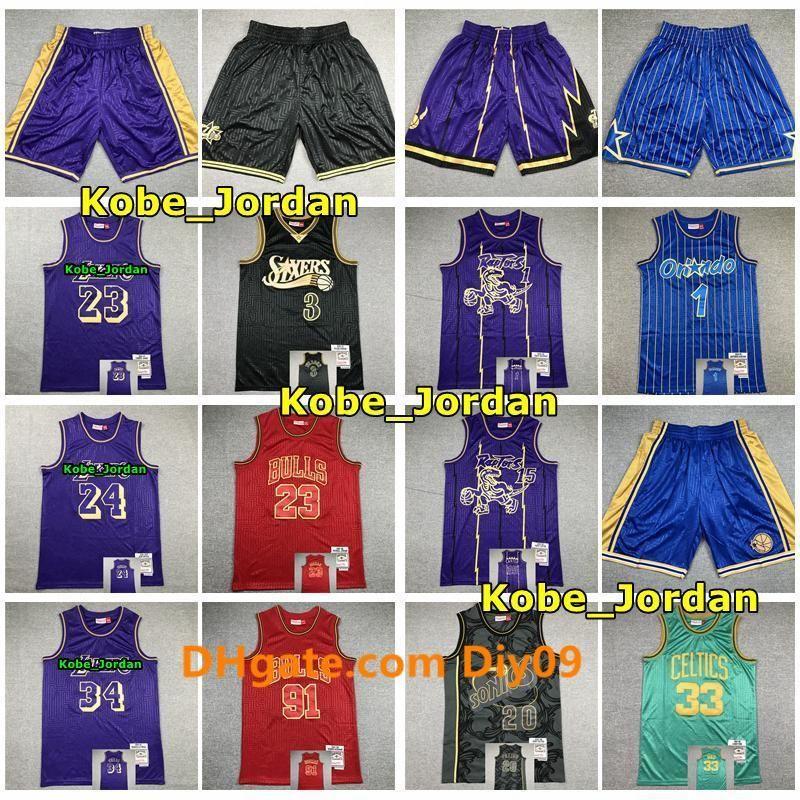 2020 3 20 Iverson Payton 34 O Neal James 23 1 McGrady 15 Carter 33 oiseaux 91 Rodman 33 Pippen 23 Michael 1 Hardaway basket-ball Short Jersey